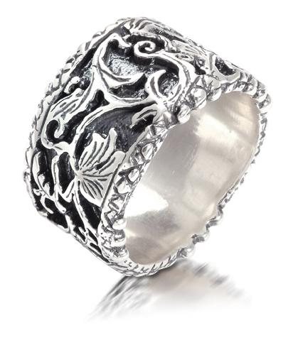 Inel de argint handmade Israel- aspect vintage.