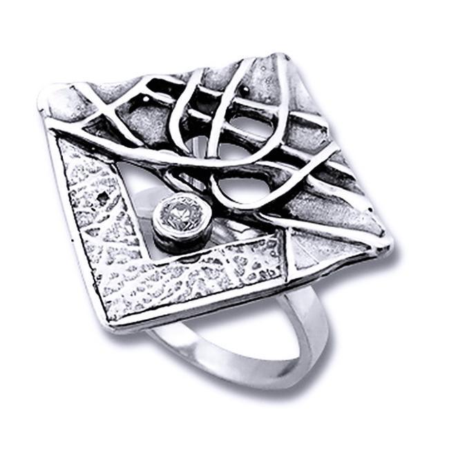 inel din argint confectionat in Israel- handmade
