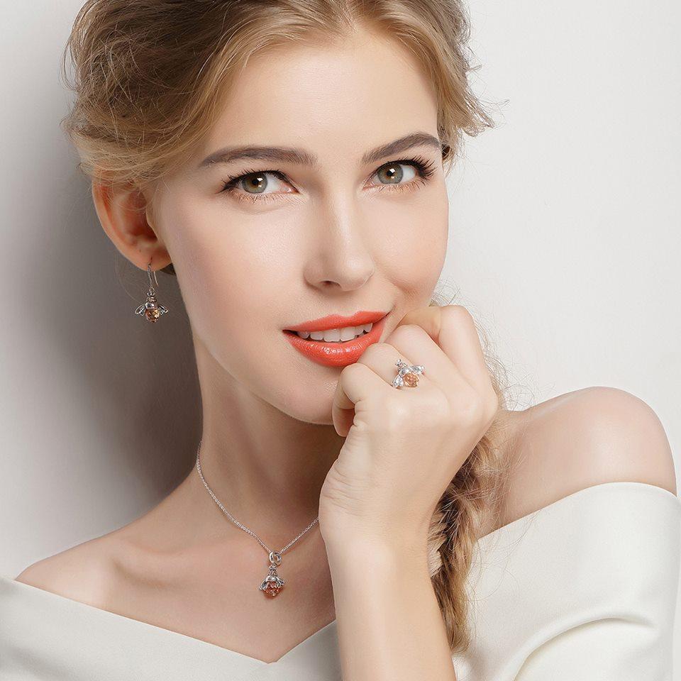 set bijuterii argint si colier