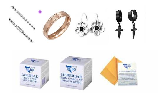 cum se curata bijuteriile din argint, aurite, inox, piele, fashion