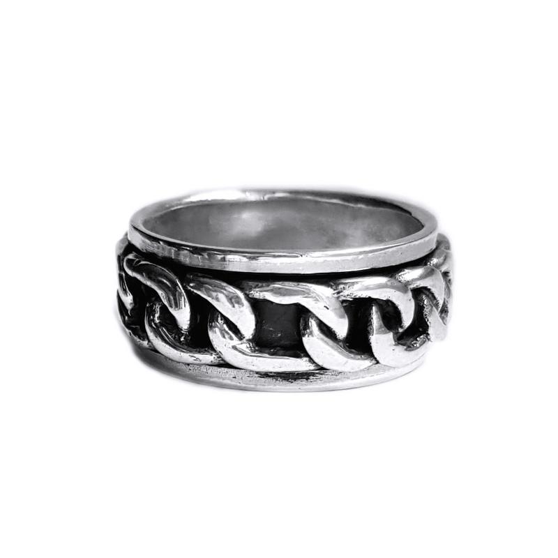 inel argint 925 antistres- cadou potrivit pentru barbati de Valentine s