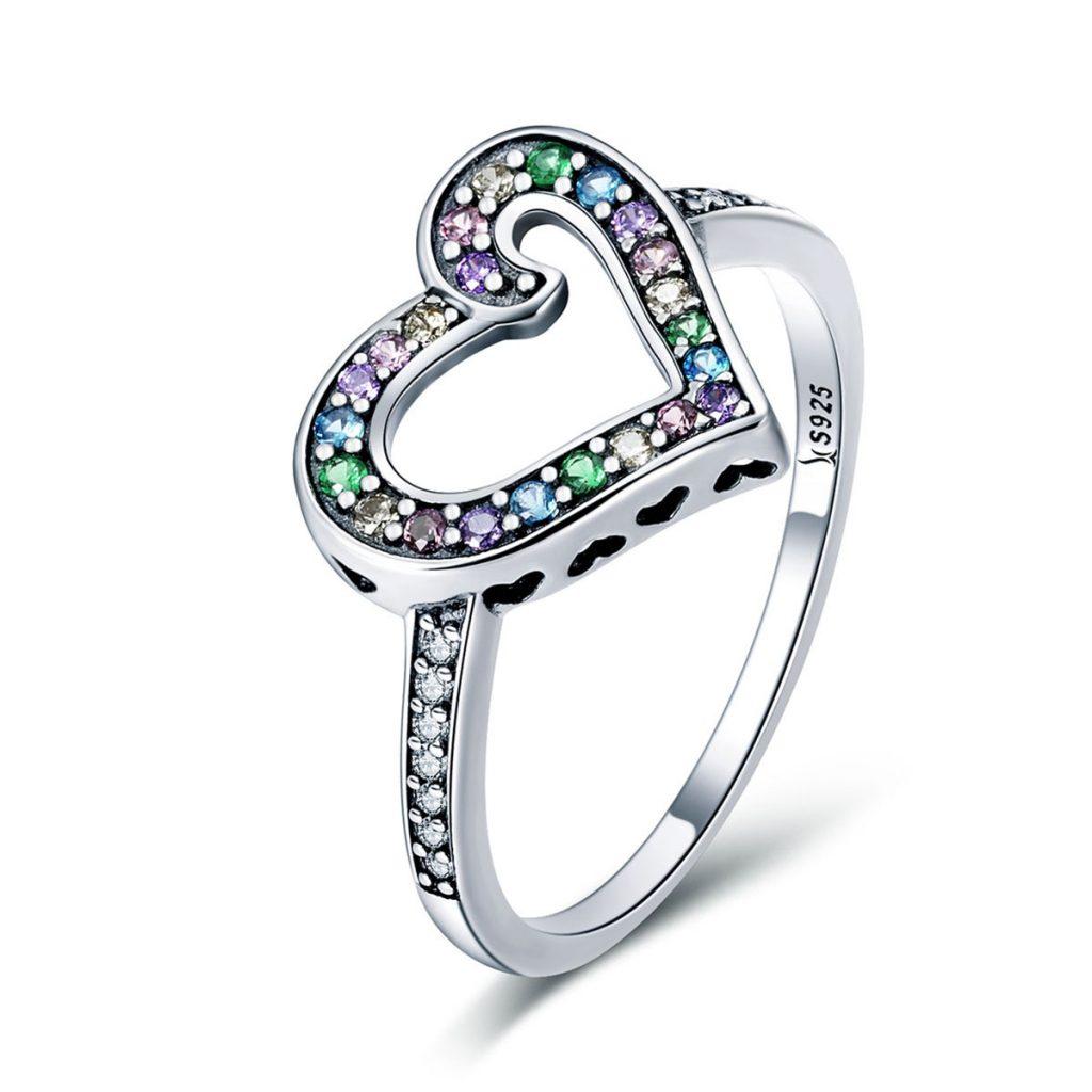 inel argint inimioara cadou valentine s pentru ea